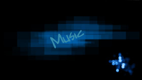 Tapeta Blue Music
