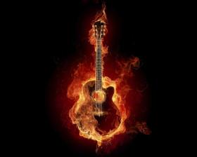 Tapeta Ognista Gitara
